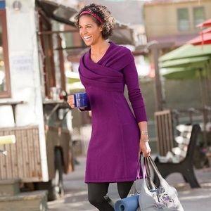Athleta Purple Sochi Sweater Wrap Soft Dress